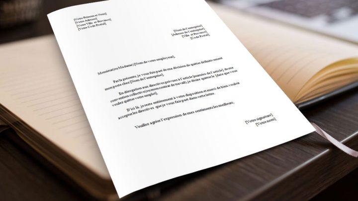 Lettre de Démission Sans Préavis