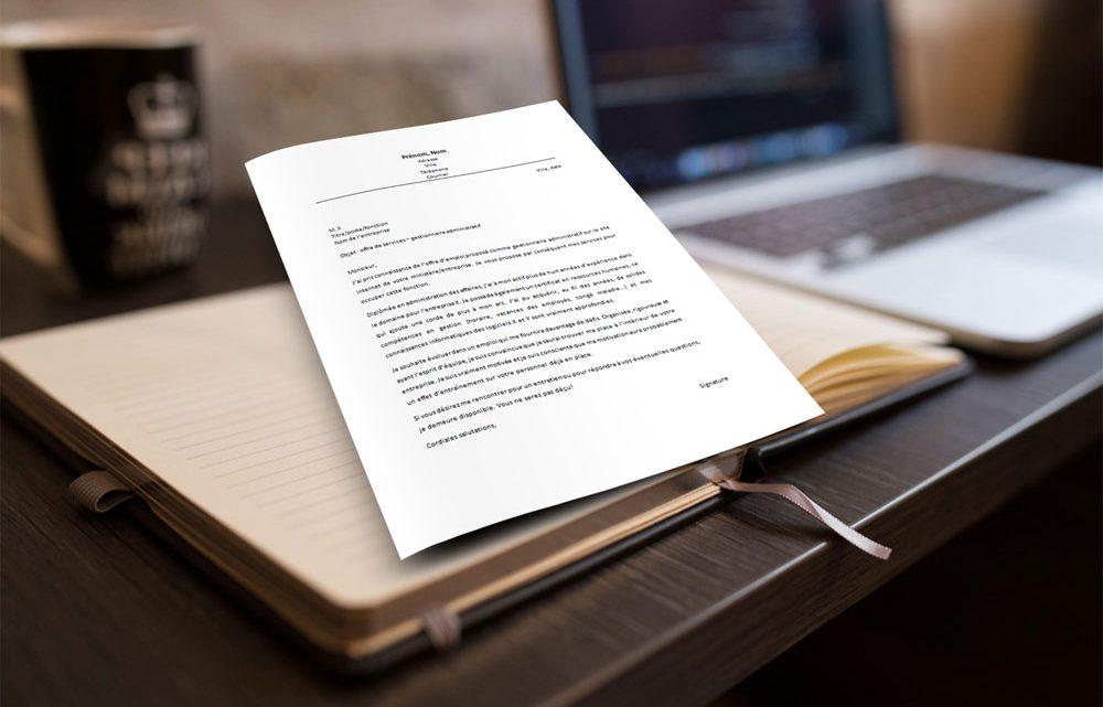 Lettre de motivation gestionnaire administratif
