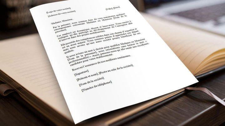 Exemple de lettre de recommandation