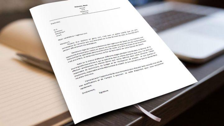 Lettre de motivation | Ingénieur civil