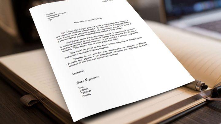 Lettre de motivation | Boucher