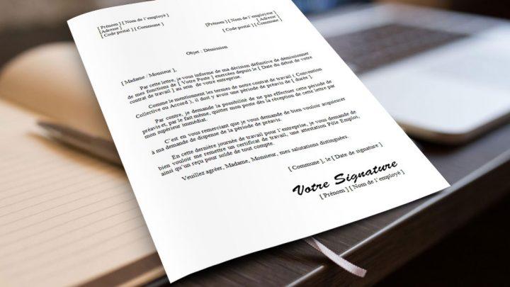 Lettre de démission pour la France