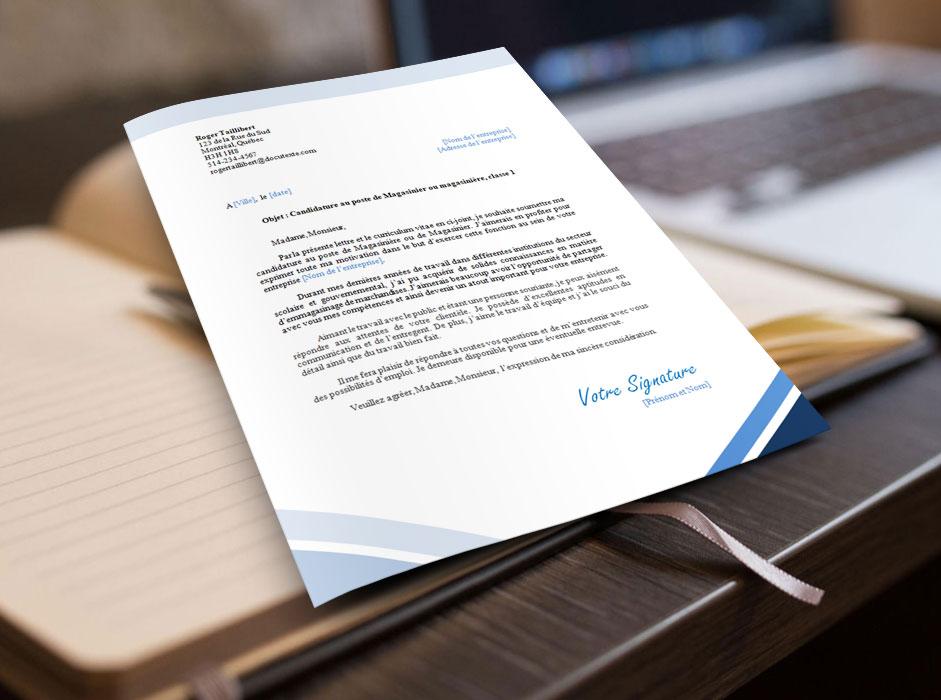 lettre de motivation et présentation pour une magasinière ou un magasinier