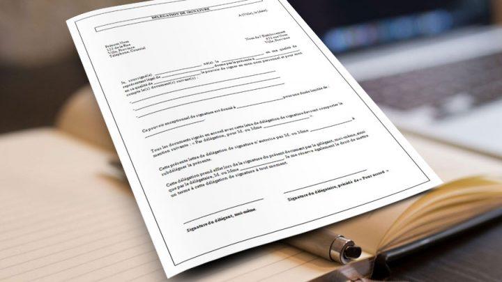 Délégation de signature