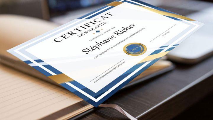 Certificat de scolarité