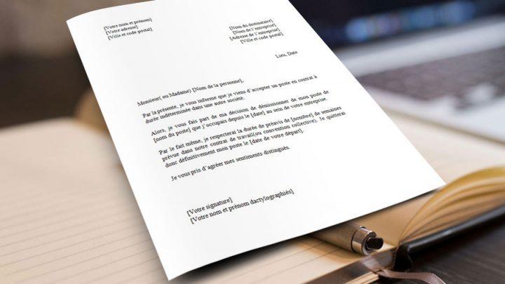 Lettre de Démission CDD (Contrat à Durée Déterminée)